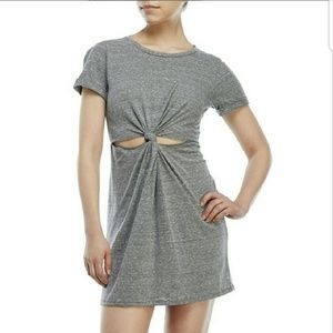 Honey Punch Front Knot Cut-Out Dress